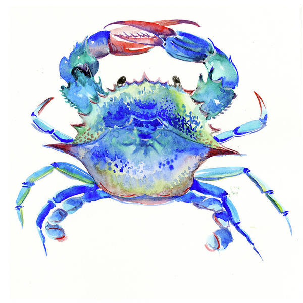 Wall Art - Painting - Blue Crab by Suren Nersisyan