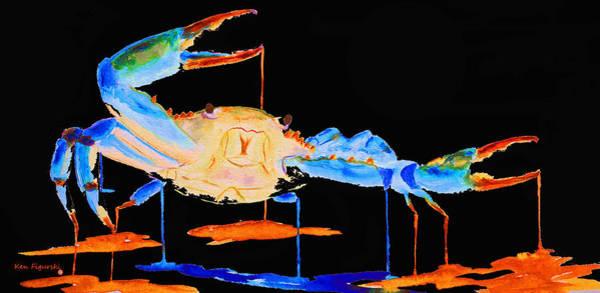 Horseshoe Digital Art - Blue Crab Two by Ken Figurski
