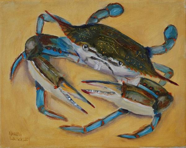 Blue Crab V Art Print