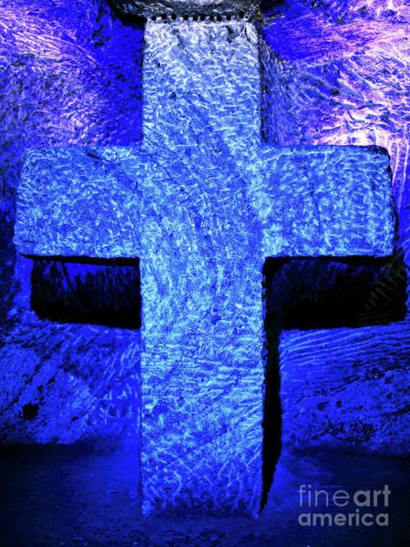 Photograph - Blue Cross Of Zipaquira by John Rizzuto