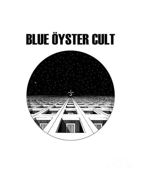 Blue Oyster Cult Wall Art - Digital Art - Blue Cult by Harry Dale