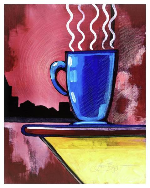Mixed Media - Blue Cup by Lucas Boyd