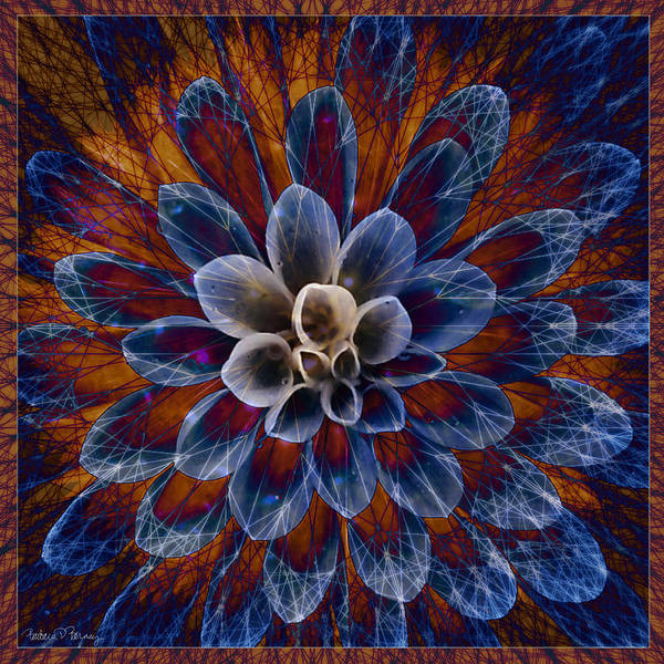 Digital Art - Blue Dahlia by Barbara Berney