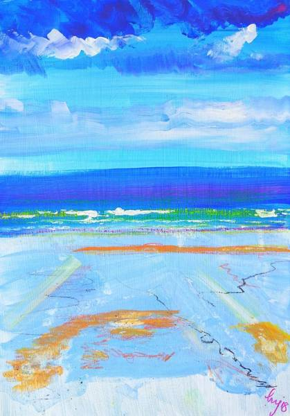 Mixed Media - Blue Day At Fistral Beach by Mike Jory