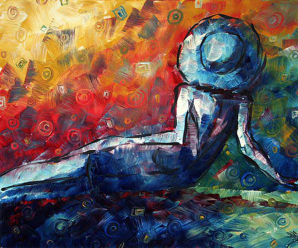 Upbeat Painting - Blue Daze Original Madart Painting by Megan Duncanson