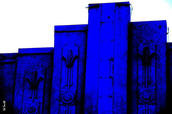 Blue Deco Art Print