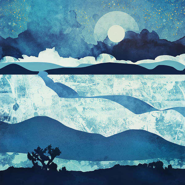 Wall Art - Digital Art - Blue Desert by Spacefrog Designs