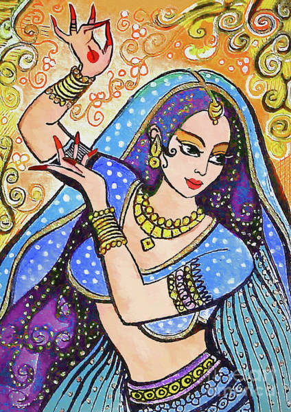 Wall Art - Painting - Blue Devi by Eva Campbell