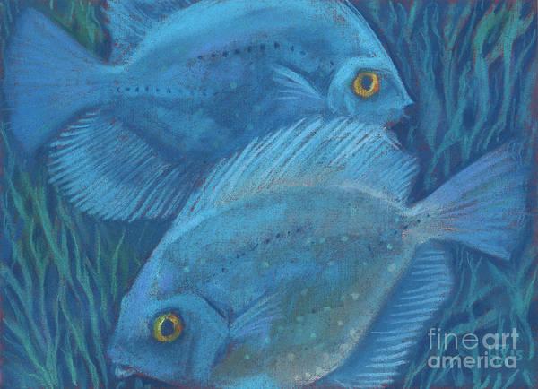 Pastel - Blue Discuses by Julia Khoroshikh