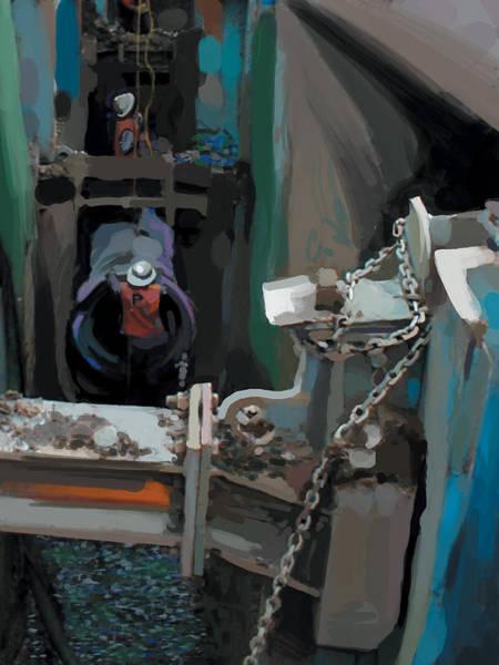 Fineartamerica Wall Art - Painting - Blue Ditch by Brad Burns