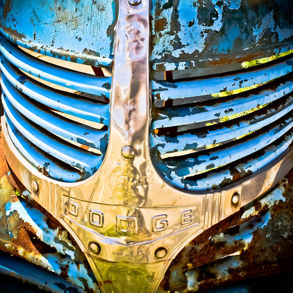 Wall Art - Photograph - Blue Dodge - Grab Life by Colleen Kammerer