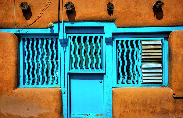 Photograph - Blue Door And Windows by Garry Gay