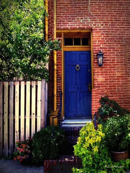 Painting - Blue Door, Baltimore by RC DeWinter