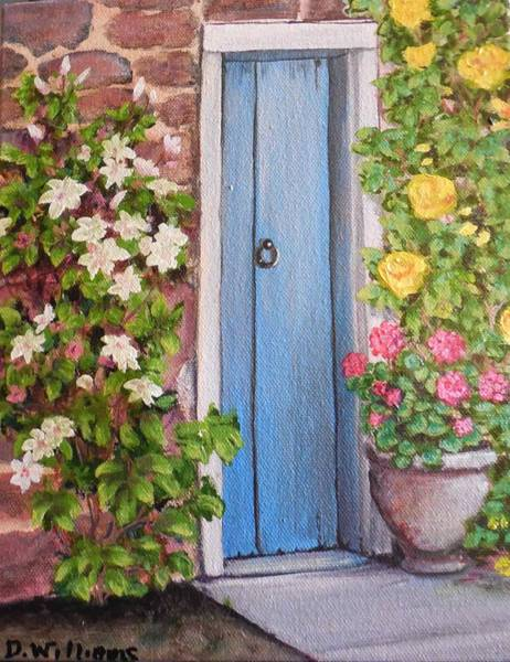 Don Williams Painting - Blue Door by Don Williams