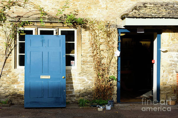 Photograph - Blue Door Off Its Hinges by Colin Rayner