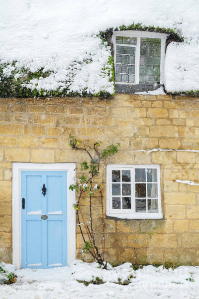 English Cottage Photograph - Blue Door by Tim Gainey