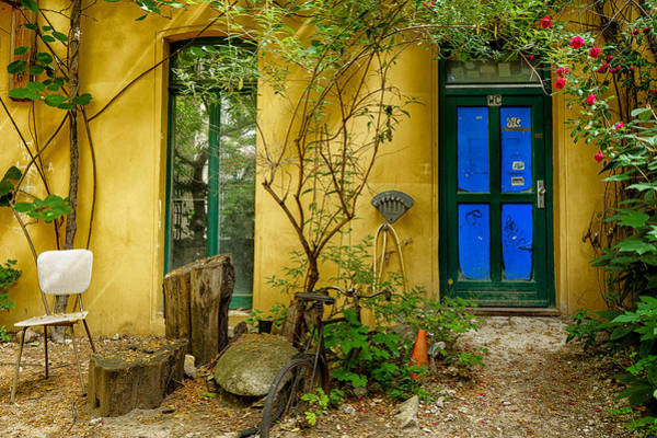 Photograph - Blue Door by Uri Baruch