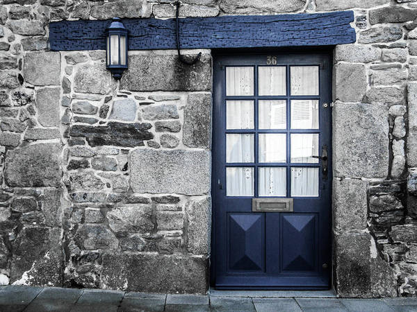 Photograph - Blue Doorway by Helen Northcott