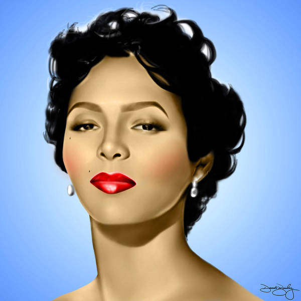 Dorothy Dandridge Digital Art - Blue Dorothy by Davonte Bailey