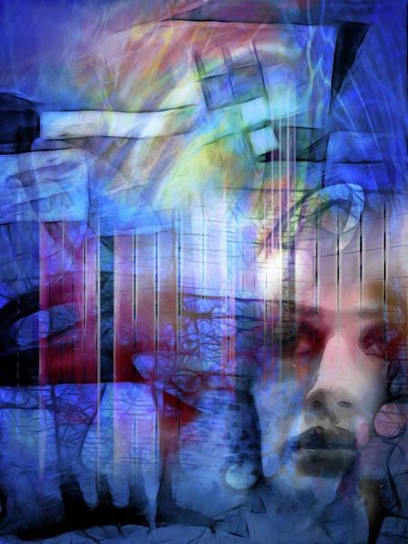 Digital Art - Blue Drama Vision by Lutz Baar