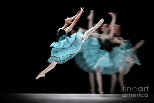 Photograph - Blue Dress Dance by Dimitar Hristov