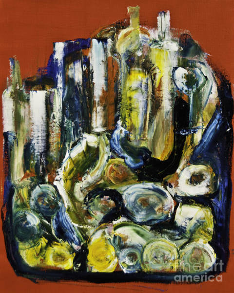 Painting - Blue Drinks Tray by James Lavott