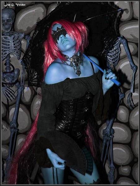 Painting - Blue Dungeon Mistress by Jon Volden