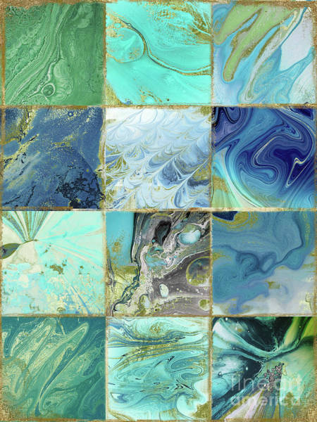 Wall Art - Painting - Blue Earth by Mindy Sommers