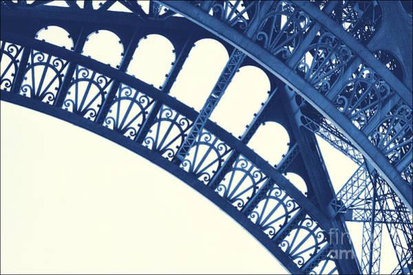 Vive La France Wall Art - Photograph - Blue Eiffel by Lucy Antony
