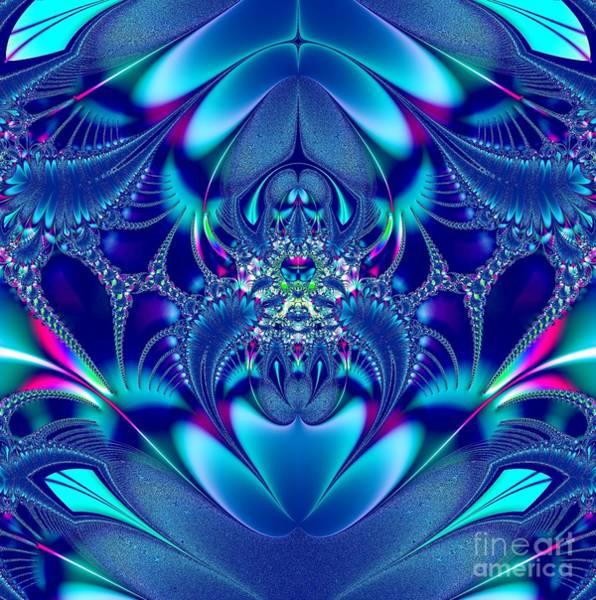 Digital Art - Blue Elegance Fractal 2 by Rose Santuci-Sofranko