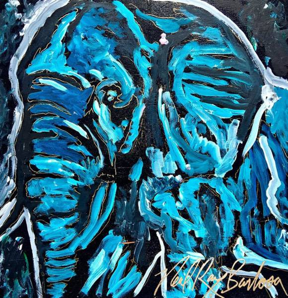 Painting - Blue Elephant by Neal Barbosa