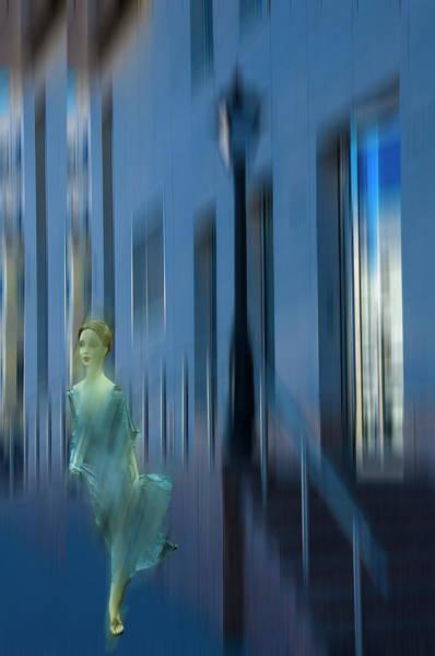 Dummy Digital Art - Blue Evening by larisa Fedotova