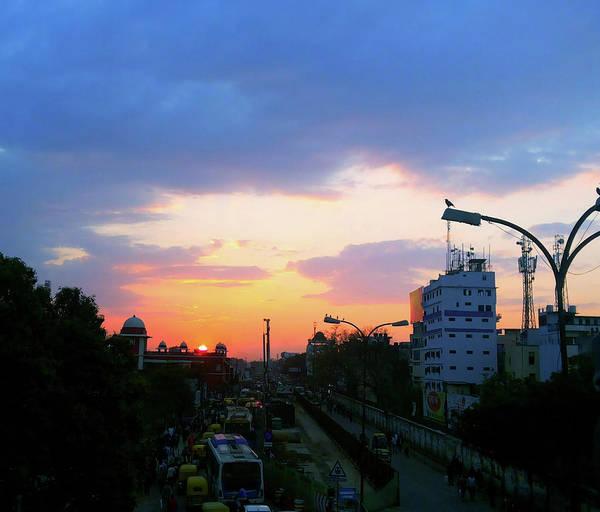 Photograph - Blue Evening Sky by Atullya N Srivastava