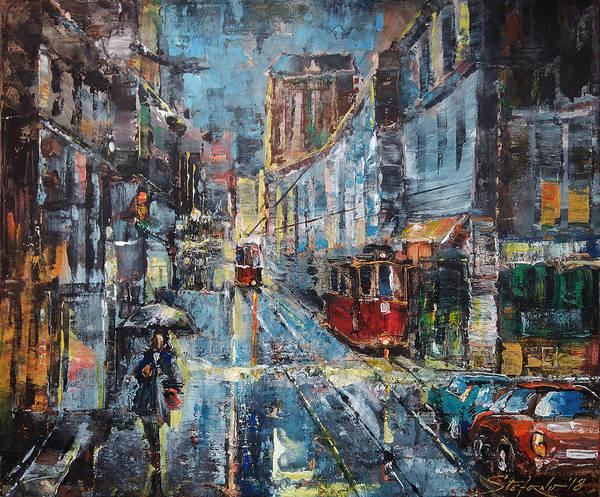 Painting - Blue Evening by Stefano Popovski