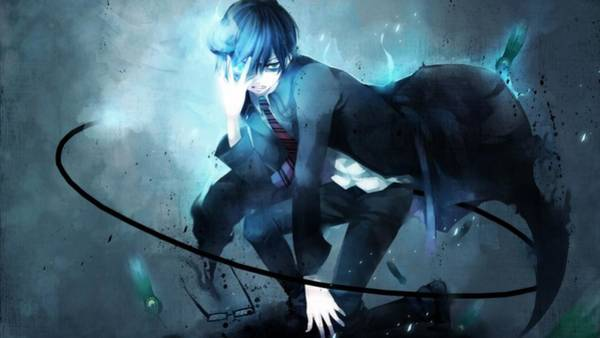 Blue Digital Art - Blue Exorcist by Maye Loeser