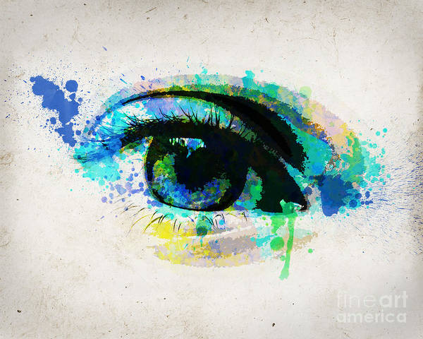Looking Up Painting - Blue Eye 8x10 by Delphimages Photo Creations