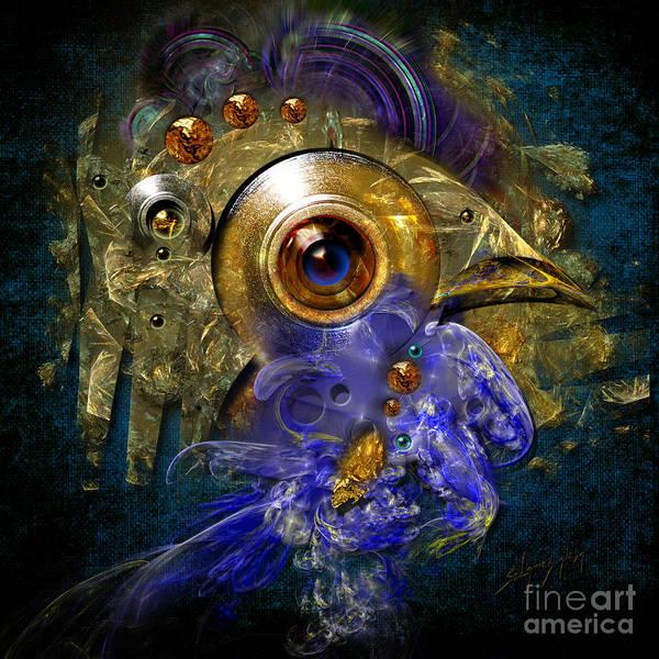 Painting - Blue Eyed Bird by Alexa Szlavics