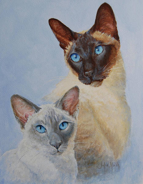 Wall Art - Painting - Blue /eyed Boys by Julie Nash