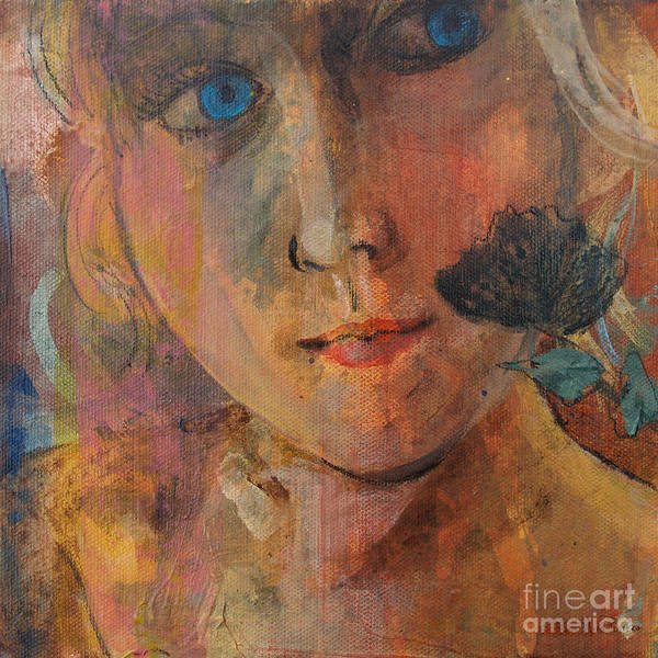 Painting - Blue Eyed Girl by Robin Maria Pedrero