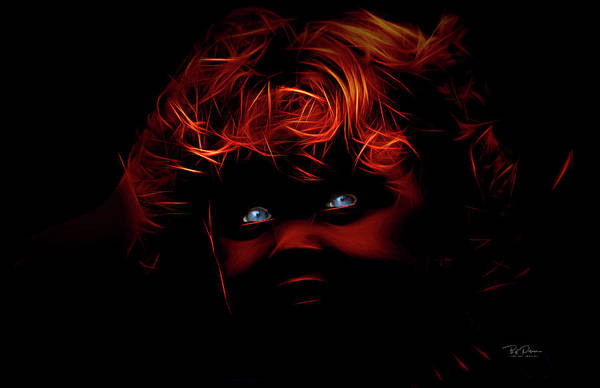 Digital Art - Blue Eyes by Bill Posner