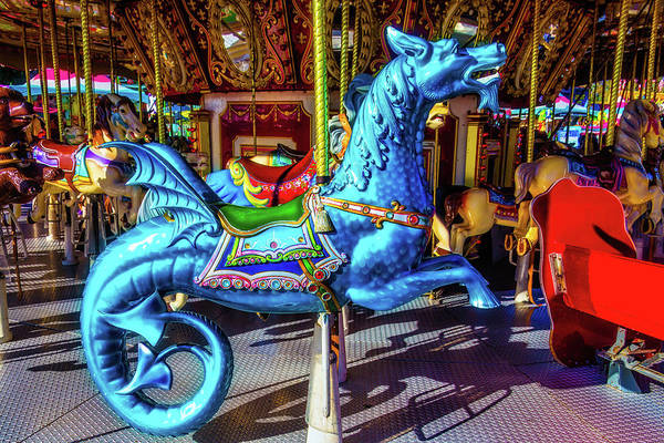 Photograph - Blue Fancy Dragon by Garry Gay
