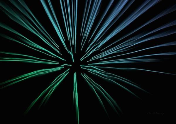 Fireworks Show Wall Art - Photograph - Blue Firework by Chris Berry