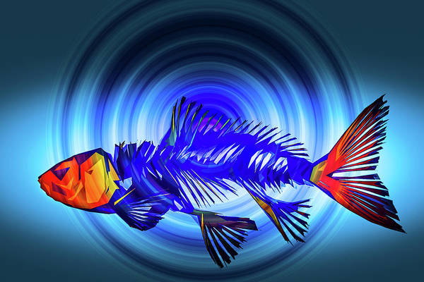 Photograph - Blue Fish by Michael Arend