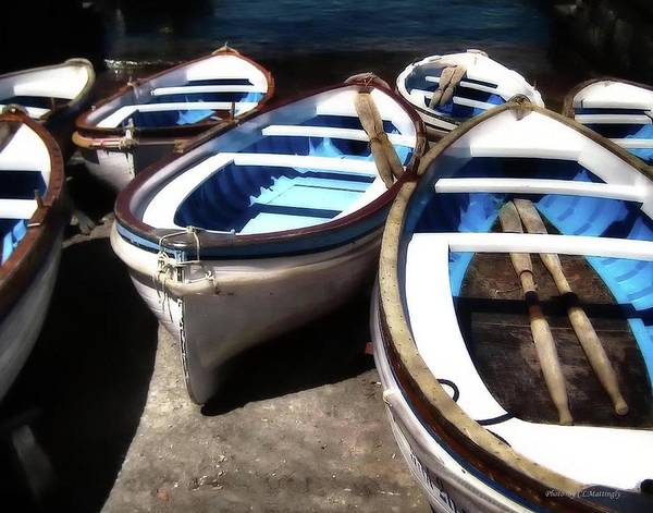 Photograph - Blue Fishing Boats by Coleman Mattingly