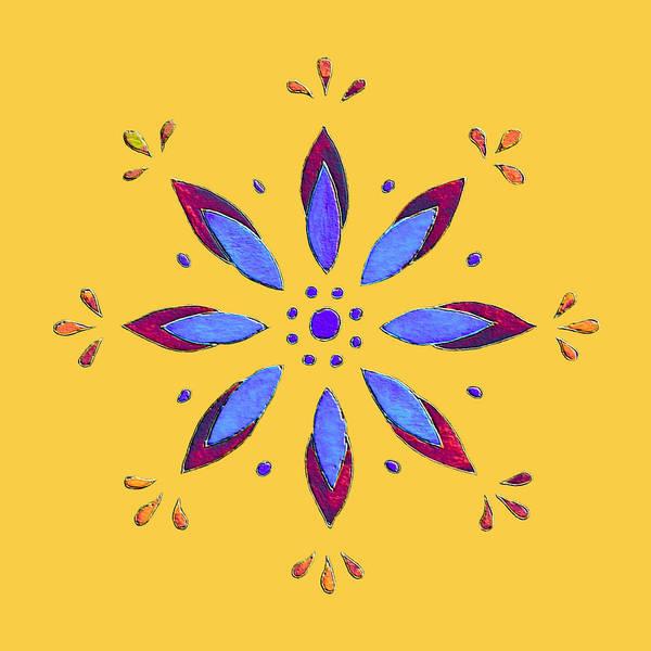 Digital Art - Blue Flower by Elizabeth Lock