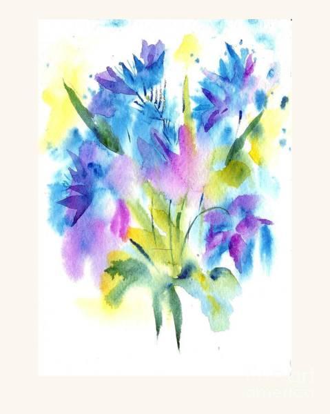 Painting - Blue Flowers by Asha Sudhaker Shenoy