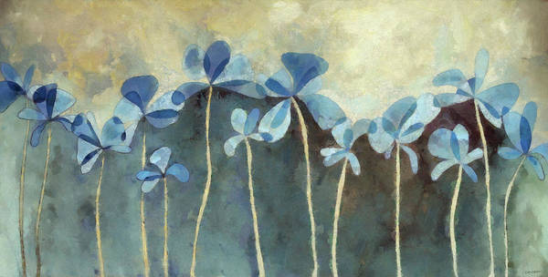 Blooms Digital Art - Blue Flowers by Cynthia Decker