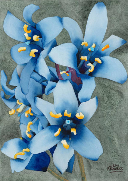 Painting - Blue Flowers by Ken Powers