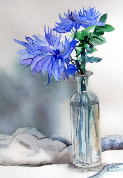 Painting - Blue Flowers by Tim Johnson