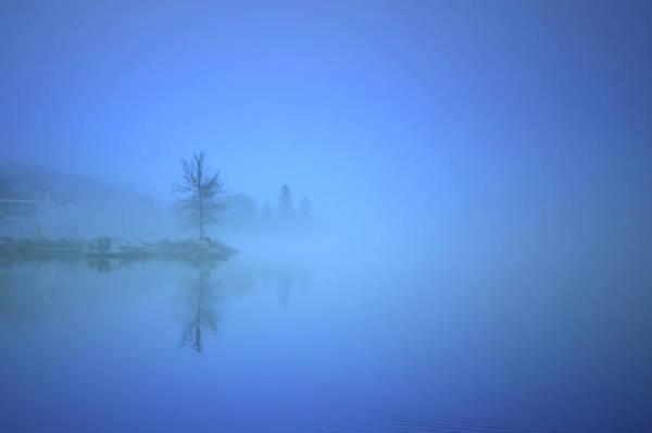 Photograph - Blue Fog At Skaha Lake by Tara Turner